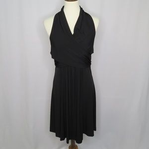 NWOT Calvin Klein Wrap Front Halter Dress